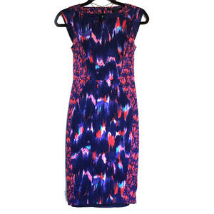 Multicolor Watercolor French Connection Dress